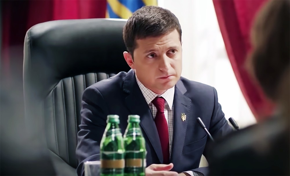 According to exit-poll Vladimir Zelensky in the lead in elections